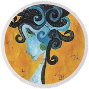 Abstraction 699 -marucii Round Beach Towel