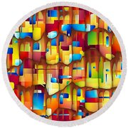 Abstraction 747 - Marucii Round Beach Towel