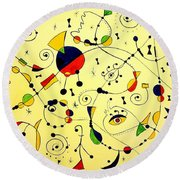 Abstraction 754 - Marucii Round Beach Towel