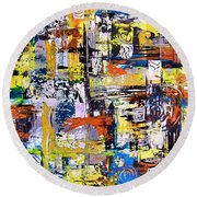 Abstraction 759 - Marucii Round Beach Towel