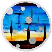 Abstraction - IIi - Round Beach Towel