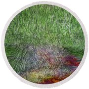 Abstraction Of Life Round Beach Towel