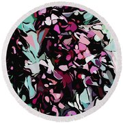 Abstraction Red And Green Round Beach Towel