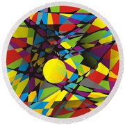Abstraction V 063 Marucii Round Beach Towel