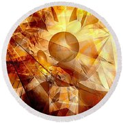 Abstraction072-13 Marucii  Round Beach Towel