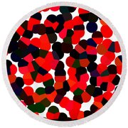 Abstractionism Round Beach Towel