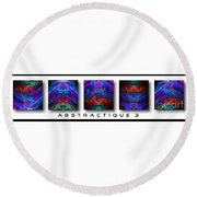 Abstractique 3 Round Beach Towel