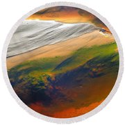 Abstracts Extremophile  Round Beach Towel