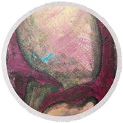 Abstracty Crows Feet Crop Round Beach Towel