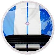 Ac Shelby Cobra Grille - Hood Emblem Round Beach Towel