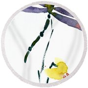 Acacion Dragonfly Round Beach Towel