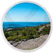 Acadia Blue Round Beach Towel