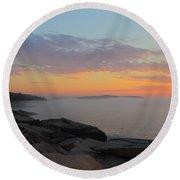Acadia Sunrise 5 Round Beach Towel
