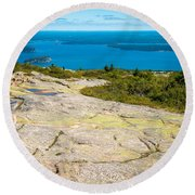 Acadia Views Round Beach Towel