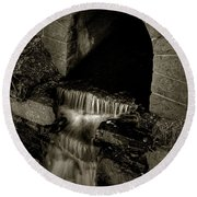 Acadia Waterfall Round Beach Towel