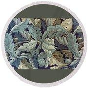 Acanthus Leaf Design Round Beach Towel