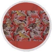 Acanthus Leaf Round Beach Towel