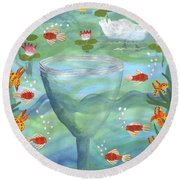 Ace Of Cups Round Beach Towel