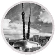 Ace Trailer Palm Springs Round Beach Towel by William Dey