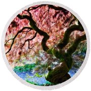 Acer Abstract Round Beach Towel