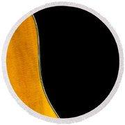 Acoustic Curve In Black Round Beach Towel