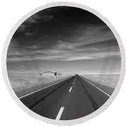 Across The Atacama Round Beach Towel