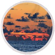 Across The Great Blue Waters Round Beach Towel