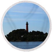 Across The Inlet Round Beach Towel