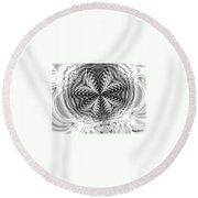 Crystal Structures Round Beach Towel