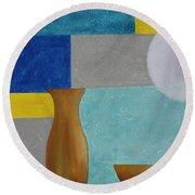 Acrylic 3d Msc 004 Round Beach Towel