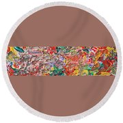 Acrylic  Madness Round Beach Towel