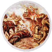 Acting-bombardier H.a. Creasey Round Beach Towel