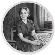 Actress Helen Hayes Round Beach Towel