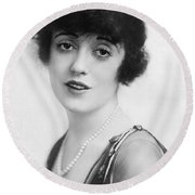 Actress Mabel Normand Round Beach Towel