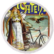 Ad Bicycles, 1898 Round Beach Towel