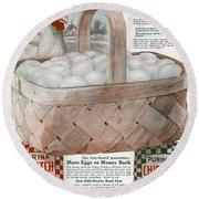 Ad Purina, 1919 Round Beach Towel