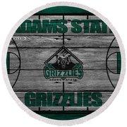 Adams State Grizzlies Round Beach Towel