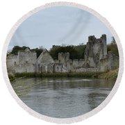 Adare Ireland Views Of Desmond Castle Round Beach Towel