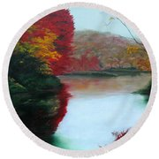 Adirondack Autumn Round Beach Towel