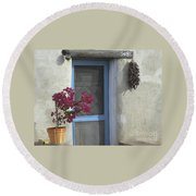 Adobe Home In Ft. Lowell Round Beach Towel