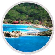 Adrenaline Beach - Cezanne II Round Beach Towel