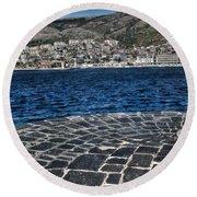 Adriatic Sea Round Beach Towel