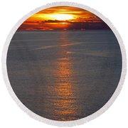 Adriatic Sunset Round Beach Towel