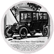 Ads Automobile, 1912 Round Beach Towel