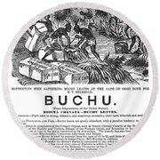 Advertisement: Buchu, 1871 Round Beach Towel