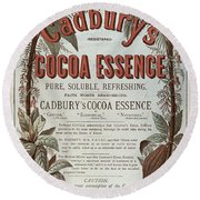 Advertisement For Cadburs Cocoa Essence From The Graphic Round Beach Towel