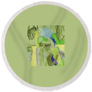 Benefit Of Concealment 1aa Round Beach Towel