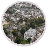 Aerial Chartres Round Beach Towel