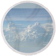 Aerial Formation Round Beach Towel