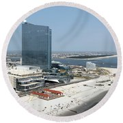 Aerial Of Revel On The Oceanfront Round Beach Towel